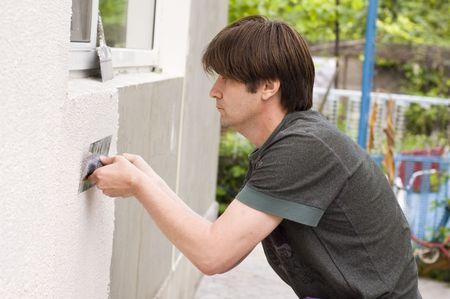 man makes renovation outdoor Stock Photo - 5312743