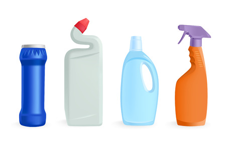 pulverizer: detergents - vector illustration