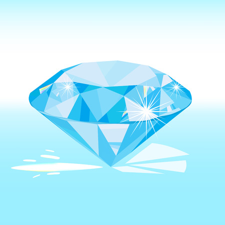 scintillation: vector blue diamond