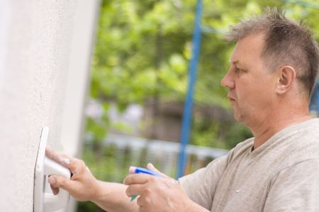 man makes renovation outdoor Stock Photo - 6386030