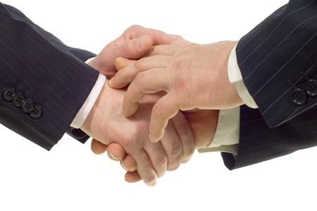 handshake isolated on white background Stock Photo - 7115911