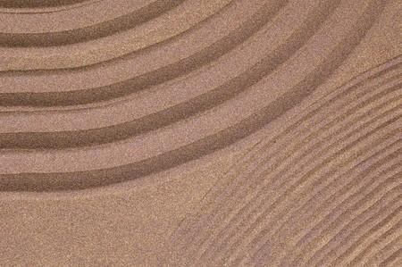 zen garden of sand with copyspace photo