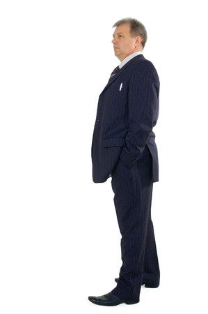 business man full-length isolated on white background  Stock Photo - 7539342