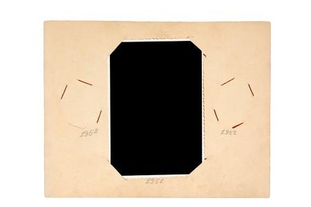 page of vintage photo album isolated on white Stock Photo - 7842733