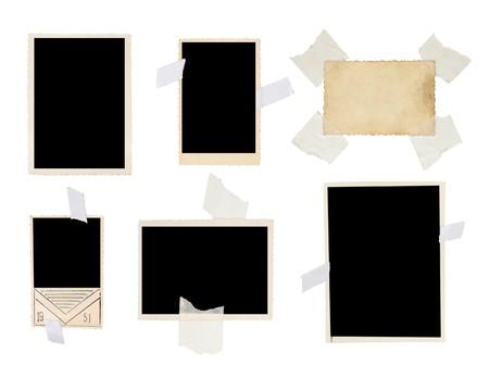 vintage photo set isolated on white background Stock Photo - 7842735