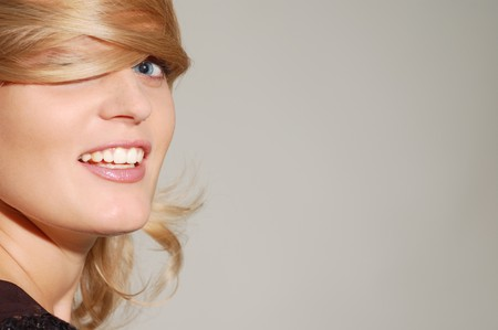 beautiful smiling blond woman Stock Photo - 8071991