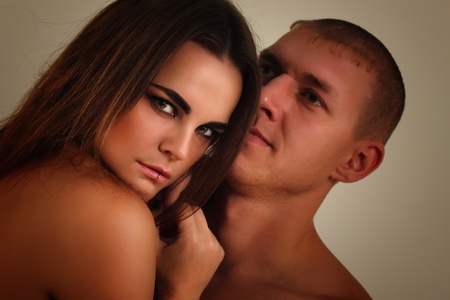 couple heterosexual in love studio shot Stock Photo - 8333427