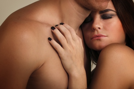 couple heterosexual in love studio shot Stock Photo - 8385123