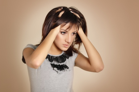 teen girl problem headache depression photo