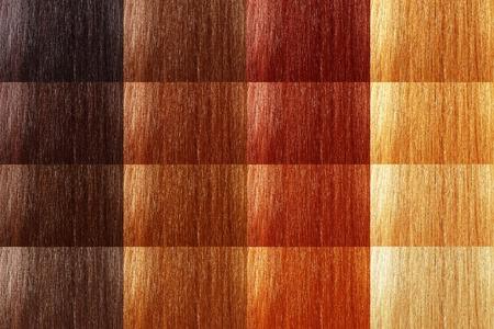 textura pelo: conjunto grande de pelo de color de tinte natural