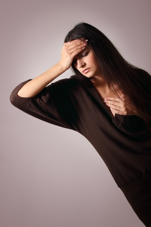 woman with problem headache depression Stock Photo - 9068524