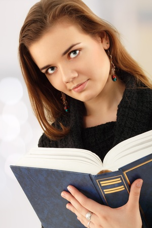 studing: education student girl with book