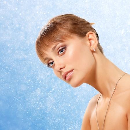 woman natural purity beauty closeup photo