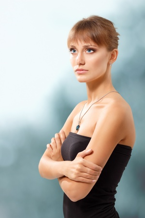 woman beautiful young calm Stock Photo - 10185133