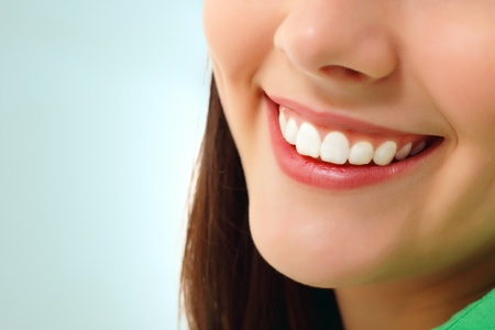 perfect smile healthy tooth cheerful teen girl isolated photo