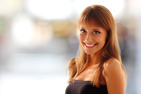 teen girl beautiful young smiling friendly