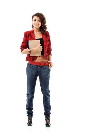 teenager girl full length isolated on white background Stock Photo - 10525318