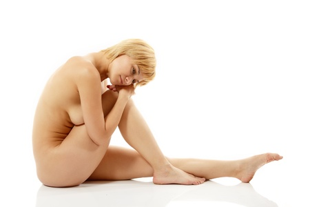 woman sexy nude beautiful young posing isolated on white background Stock Photo - 10832181