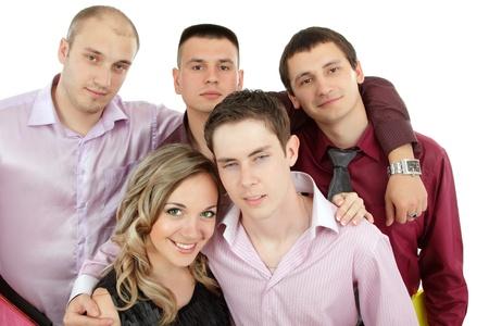 students happy group photo