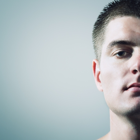 man, jonge knappe portret studio-opname Stockfoto