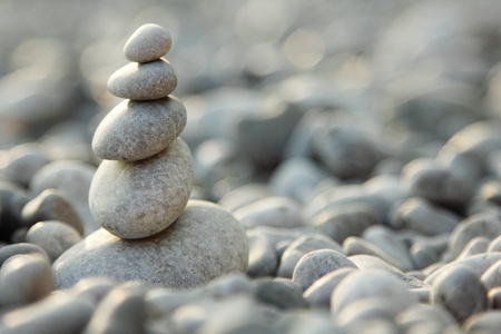 balanced stones over nature background Stock Photo - 12509830
