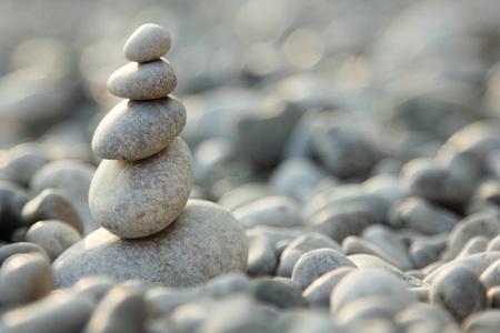 balanced stones over nature background Stock Photo - 12509830