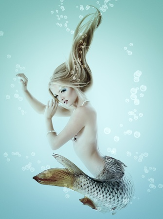mermaid beautiful magic underwater mythology  Stock Photo - 13205273