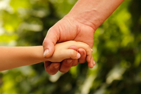 hands family grandson and old grandmother nature outdoor  photo