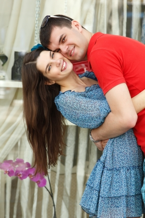 young couple hugs - first love Stock Photo - 14795691