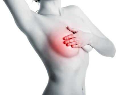 mujeres jovenes desnudas: mujer de mama o c�ncer de mastopat�a examinar m�s de blanco