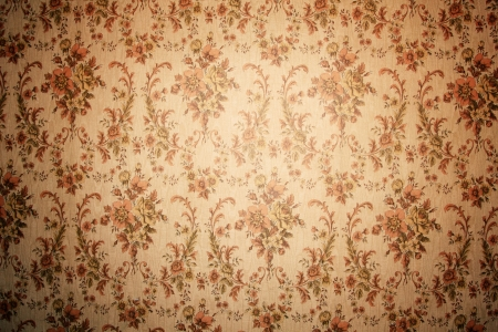 vintage wallpaper with floral pattern background  Stock Photo - 17699662