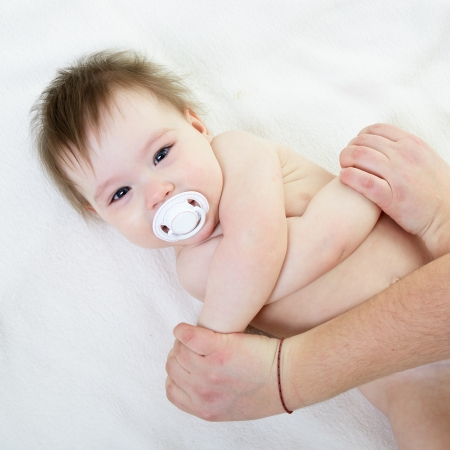 Cute baby massage photo