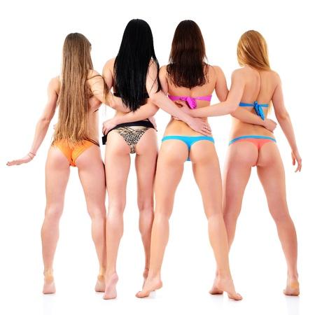 Девушки с зади в одежде фото