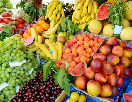 Fruits and vegetables at a farmers market  Stock Photo - 21993784