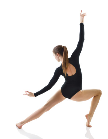 young dancer: Dancing girl, over white