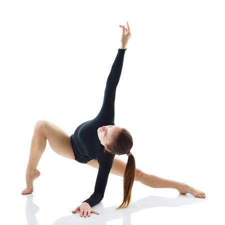 danseuse: Dancing Girl, sur fond blanc Banque d'images