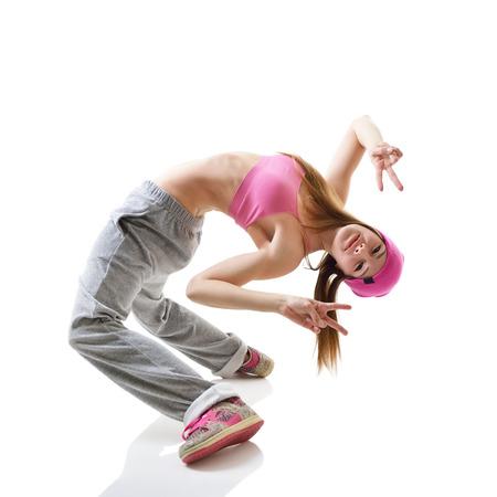 Favori Ados Danseur Fille Hip-hop Sur Fond Blanc Banque D'Images Et  PI91