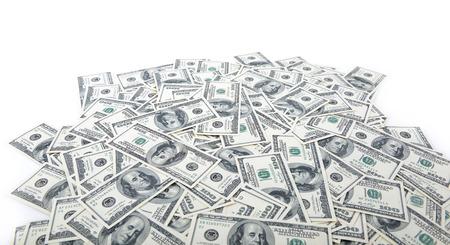 stack of dollar bill: Background with money american hundred dollar bills