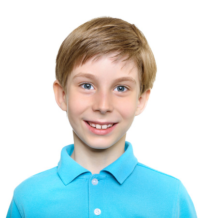 child portrait: Photo of young happy boy looking at camera.