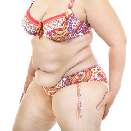 donne obese: Donna sovrappeso, particolare. Archivio Fotografico