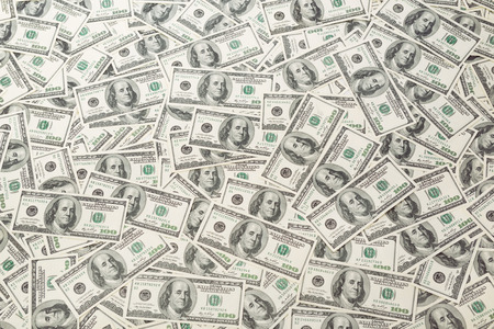 dollar: Background with money american hundred dollar bills