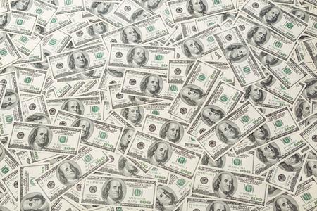pieniądze: Tło z pieniędzy amerykańskich sto dolarów rachunki Zdjęcie Seryjne