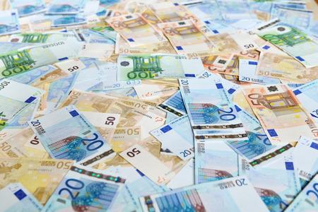 cash money: Euro banknotes. Background with european cash money.