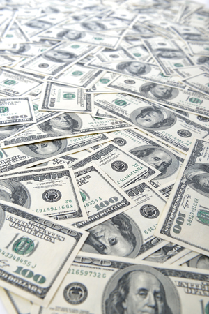 money stack: Background with money american hundred dollar bills