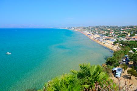 sicily: Sea and beach landscape, Italy, Sicily. Stock Photo