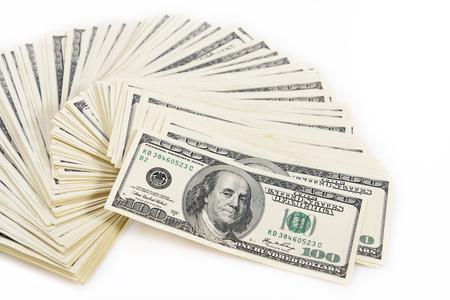 signos de pesos: Fondo con dinero americano cien billetes de un d?lar