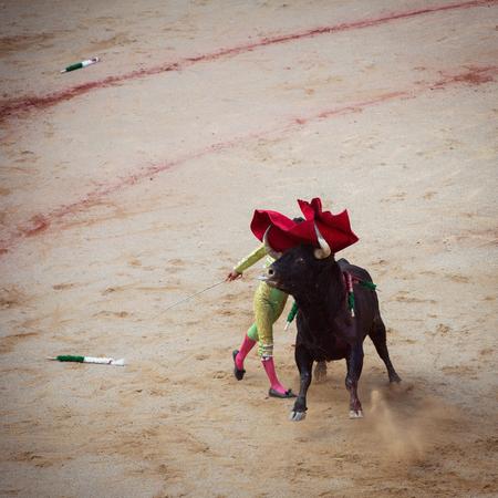 atrocity: Bullfighting. Corrida in Pamplona, Navarra, Spain Stock Photo