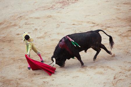 hemingway: Bullfighting. Corrida in Pamplona, Navarra, Spain, 10 of july 2016. MealnReal