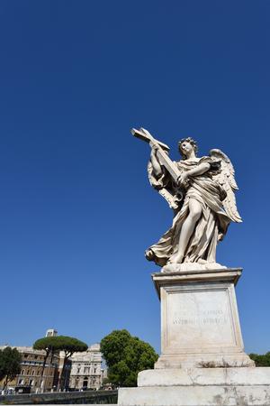 Ponte dell'Angelo, Roma, Italia. Ponte degli Angeli a Roma.