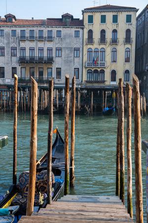 Grand Ð¡hannel with gondolas, Venice, Italy. Beautiful romantic italian city.
